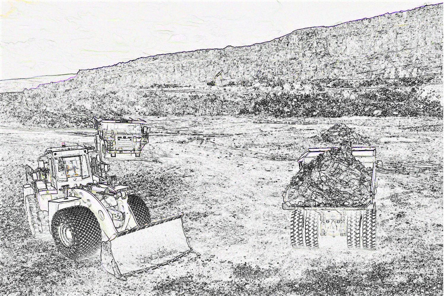 mobile fllet in a cement quarry